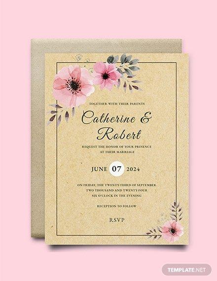 Rustic Wedding Invitation Templates Unique Free Rustic Wedding Invitation Template Download 537 Invitations In Psd Indesign Word