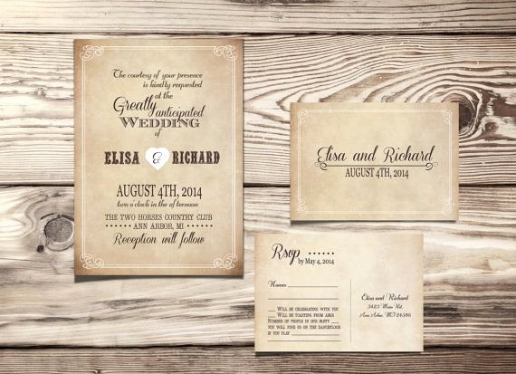Rustic Wedding Invitations Template Beautiful Printable Wedding Invitation Rustic Country Vintage Suite