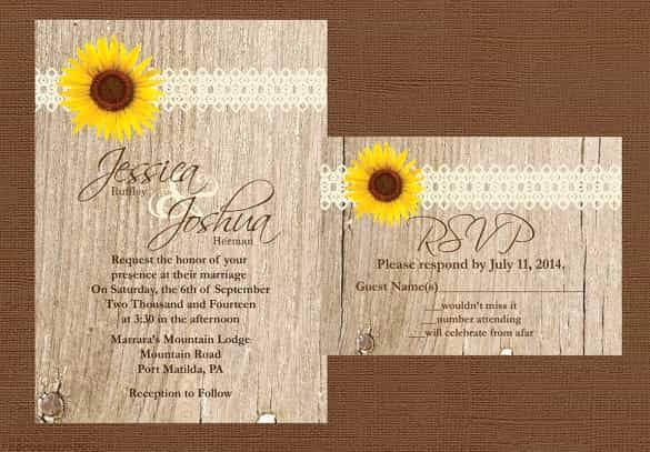 Rustic Wedding Invitations Template Lovely 85 Wedding Invitation Templates Psd Ai