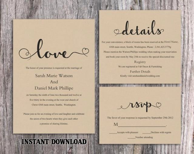Rustic Wedding Invitations Templates Best Of Diy Burlap Wedding Invitation Template Set Editable Word File Download Printable Rustic Wedding