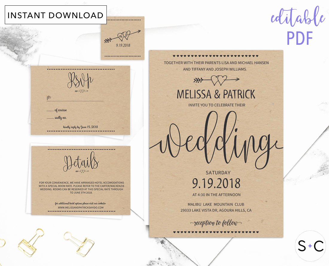 Rustic Wedding Invitations Templates Fresh Rustic Wedding Invitation Template Barn Wedding Invitations