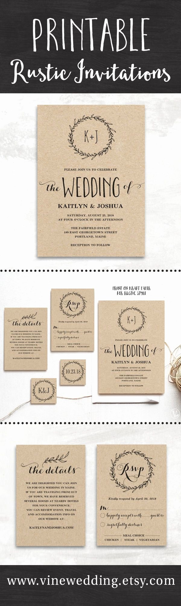 Rustic Wedding Invitations Templates Inspirational 25 Best Ideas About Rustic Wedding Invitations On Pinterest