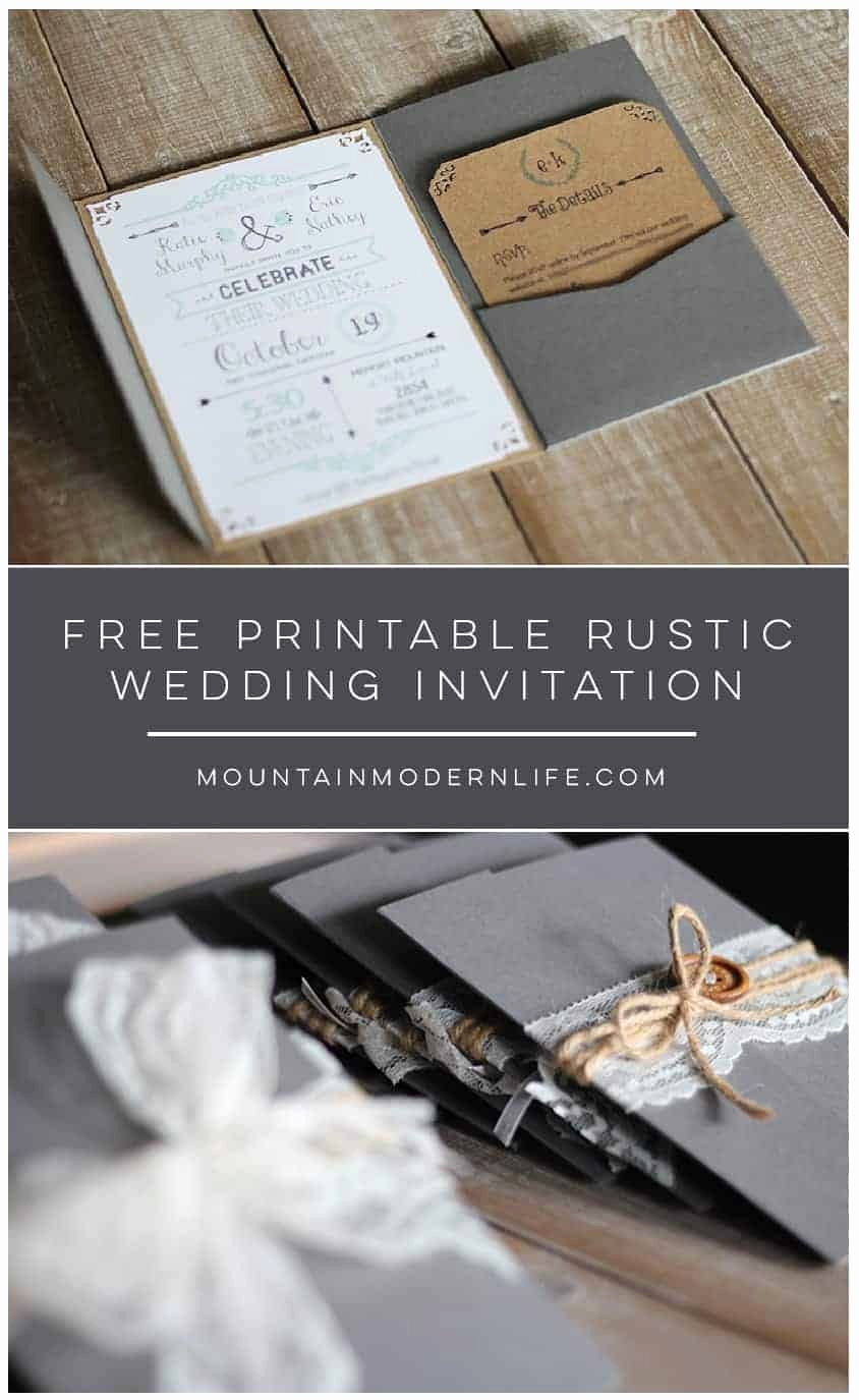 Rustic Wedding Invitations Templates Lovely Free Chalkboard Love Quote Printable