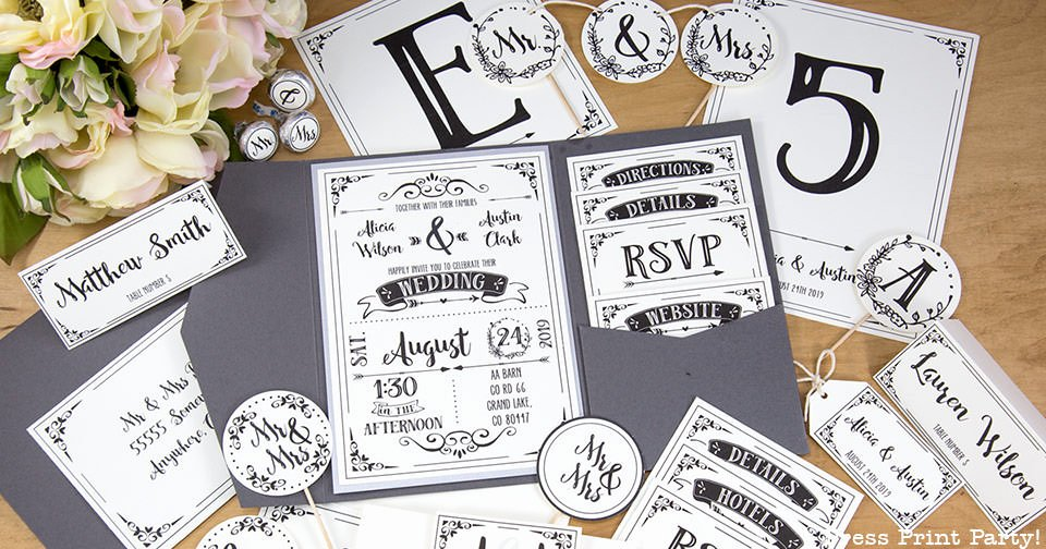 Rustic Wedding Invitations Templates Lovely Rustic Wedding Invitation Template Diy Press Print Party