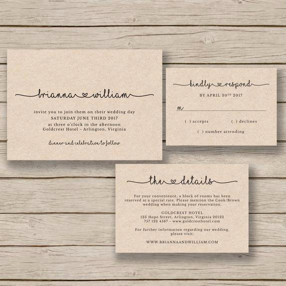 Rustic Wedding Invitations Templates Luxury Wedding Invitation Template Rustic Wedding Printable