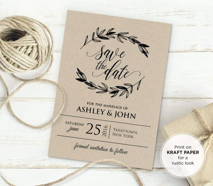 Rustic Wedding Invitations Templates Unique 25 Best Ideas About Invitation Templates On Pinterest