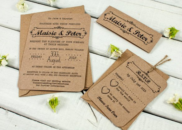 Rustic Wedding Invitations Templates Unique 28 Rustic Wedding Invitation Design Templates Psd Ai