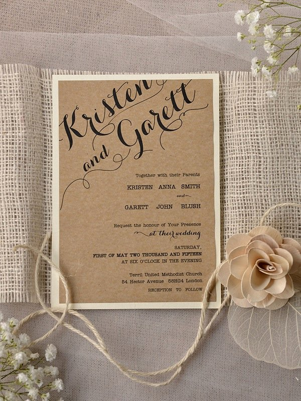 Rustic Wedding Invites Templates Beautiful Rustic Wedding Invitation Templates