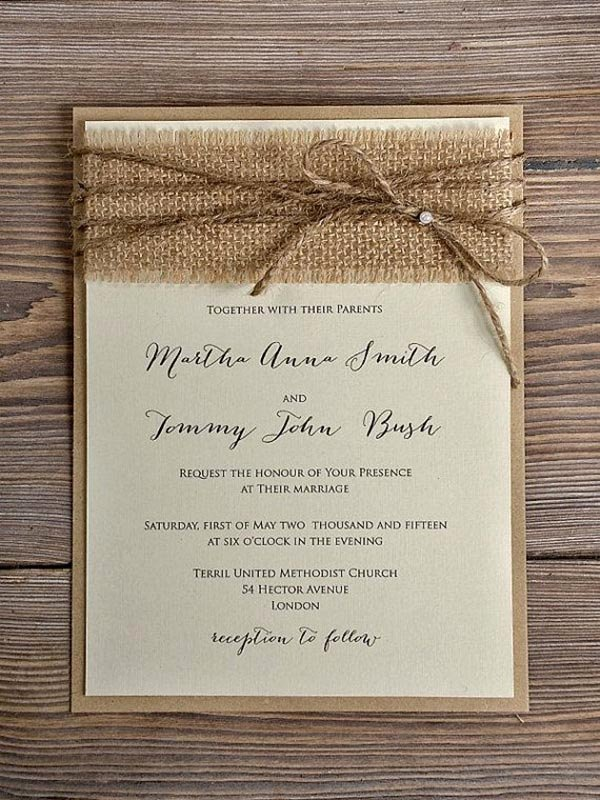 Rustic Wedding Invites Templates Beautiful top 15 Popular Rustic Wedding Invitaitons Idea Samples On Pinterest