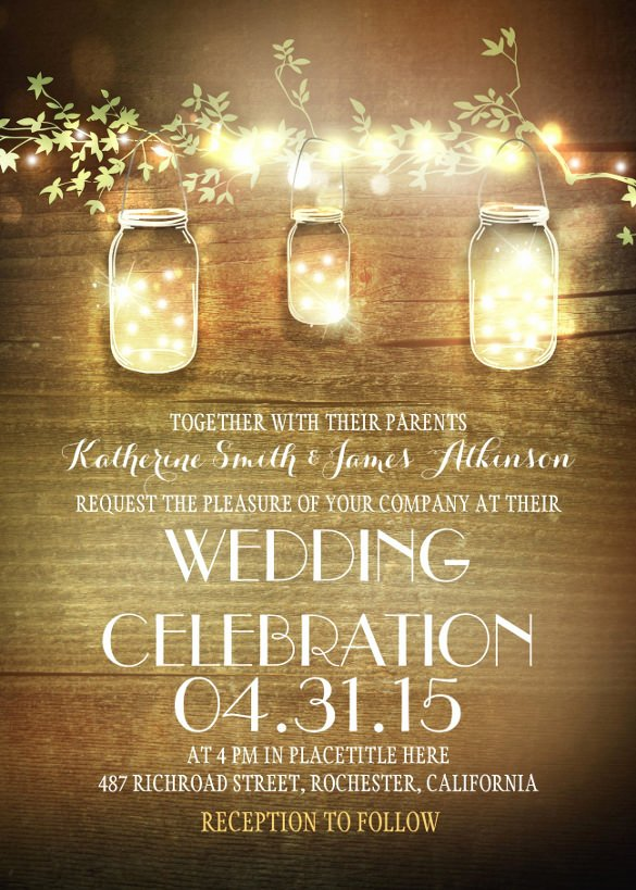 Rustic Wedding Invites Templates Inspirational 28 Rustic Wedding Invitation Design Templates Psd Ai