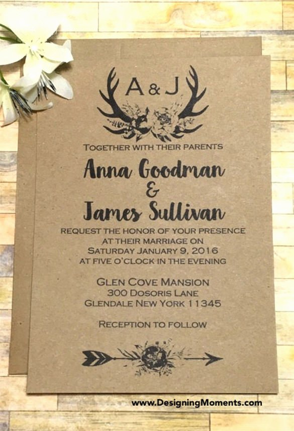 Rustic Wedding Invites Templates New Rustic Wedding Invitations Templates