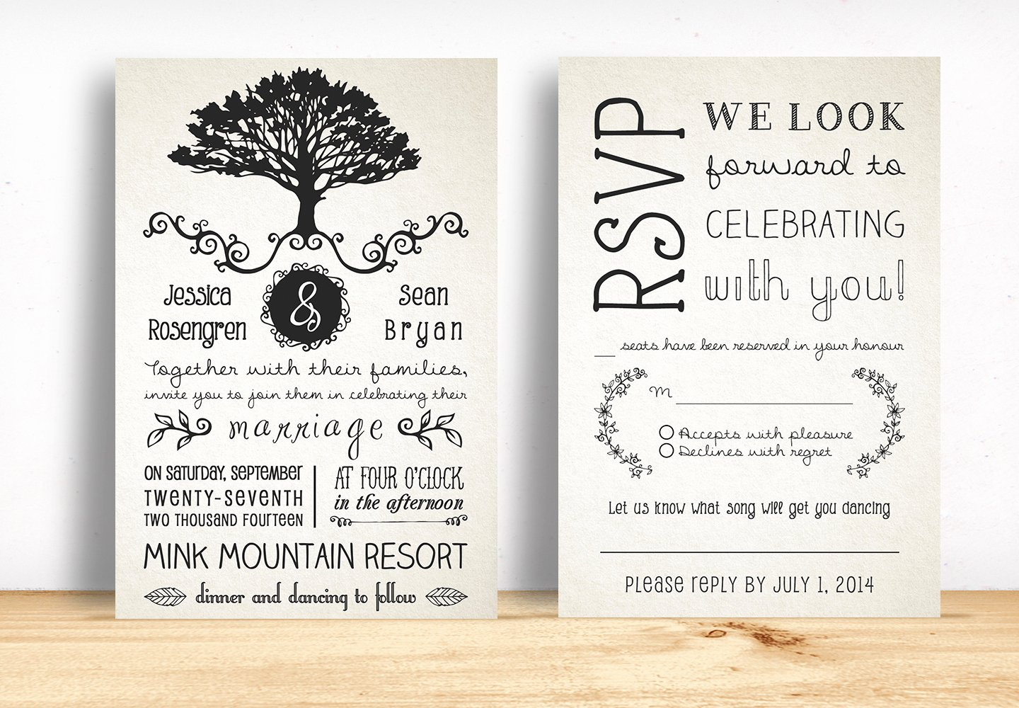 Rustic Wedding Invites Templates Unique Rustic Wedding Invitation Pack Invitation Templates On Creative Market