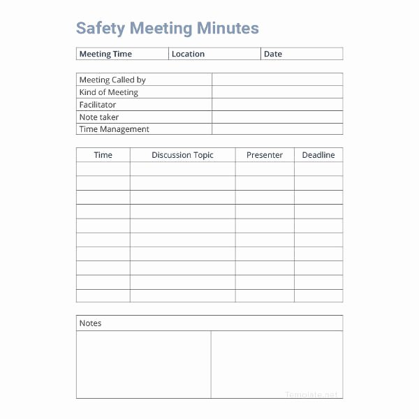 Safety Meeting Minutes Template Elegant 14 Free Meeting Minute Templates Informal Corporate