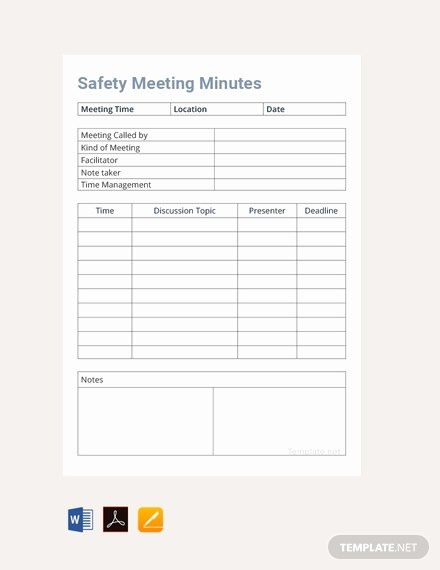 Safety Meeting Minutes Template Inspirational 38 Free Google Docs Meeting Minutes Templates