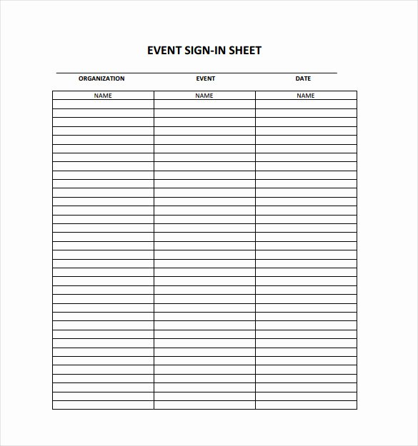 Safety Meeting Sign In Sheet Luxury 18 Sign In Sheet Templates – Free Sample Example format Download