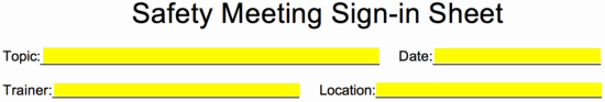 Safety Meeting Sign In Sheet Luxury Safety Meeting Sign In Sheet Template