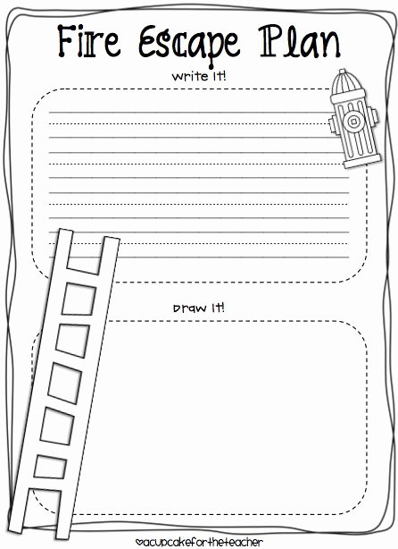 Safety Plan Template for Students Fresh A Cupcake for the Teacher Fire Safety Plus A Freebie