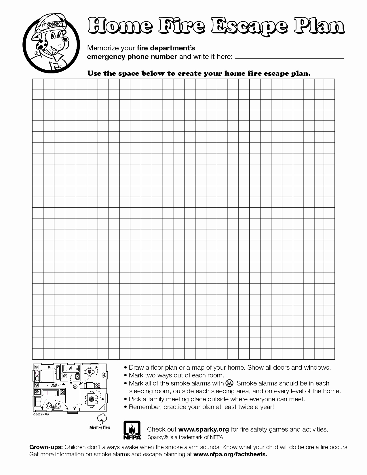 Safety Plan Template for Students Inspirational Home Fire Escape Plan Template Education