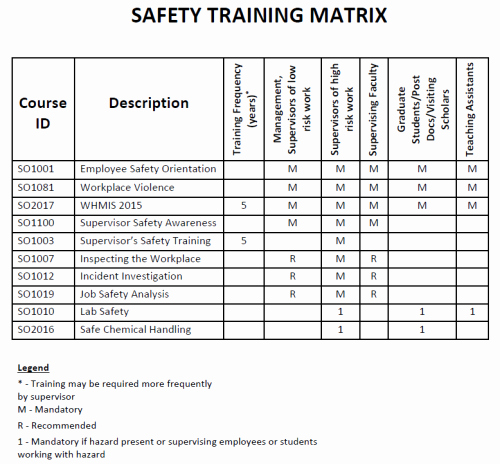 Safety Plan Template for Students Unique Chemical Engineering Safety Program