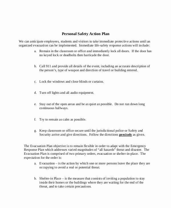 Safety Plan Template for Students Unique Safety Plan Template for Students School Action Plan