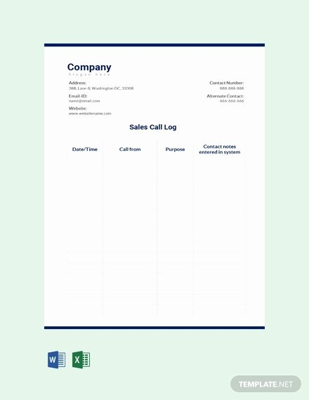 Sales Call Log Template Awesome Free Machine Maintenance Log Template Download 239