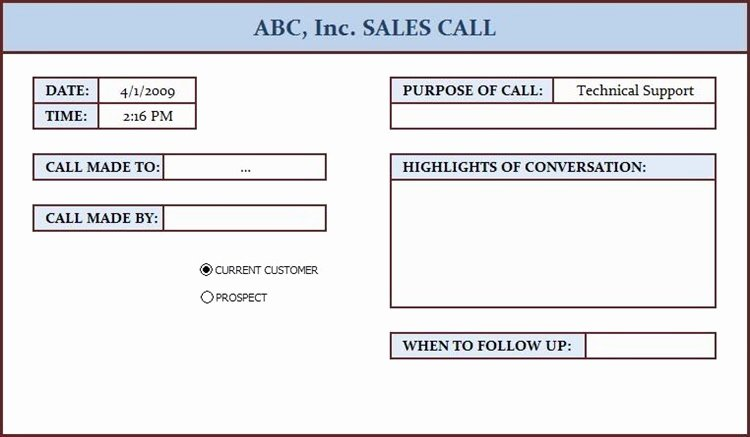 Sales Call Log Template Best Of Free Data Collection Templates On Excel Sales Call Log