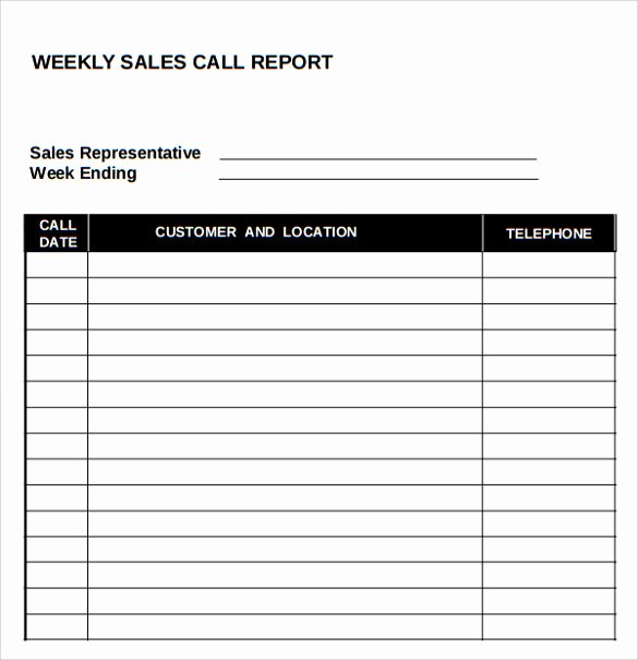 Sales Call Report Template Fresh Sample Sales Call Report 14 Documents In Pdf Word Excel Apple Pages Google Docs