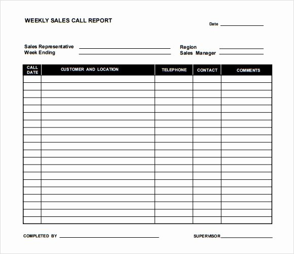 Sales Call Reporting Template Inspirational Sample Sales Call Report Template 6 Documents In Pdf