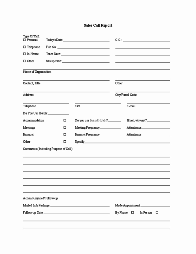 Sales Call Reporting Template New Sales Call Report Templates Find Word Templates