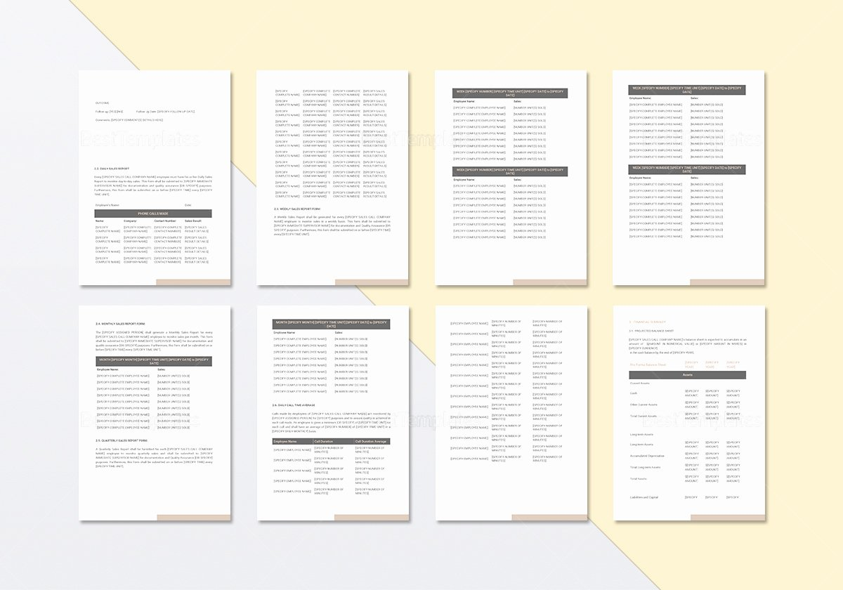 Sales Call Reporting Template Unique Sales Call Report Template In Word Google Docs Apple Pages