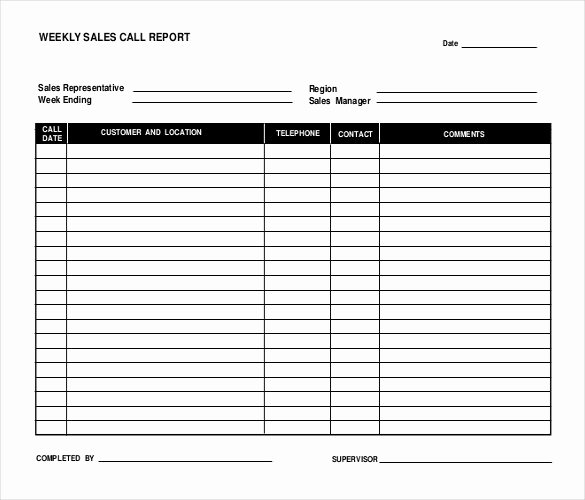 Sales Calls Report Template Elegant 16 Sales Report Templates Docs Pages Pdf Word