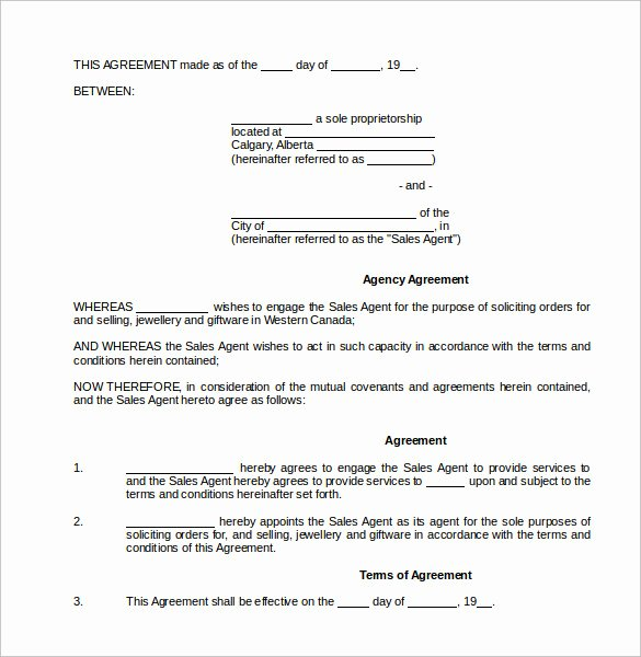 Sales Commission Agreement Pdf Inspirational Sales Mission Agreement Pdf