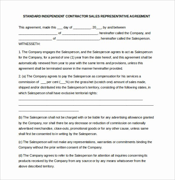 Sales Commission Agreement Template Lovely 12 Mission Agreement Templates Word Pdf Apple Pages