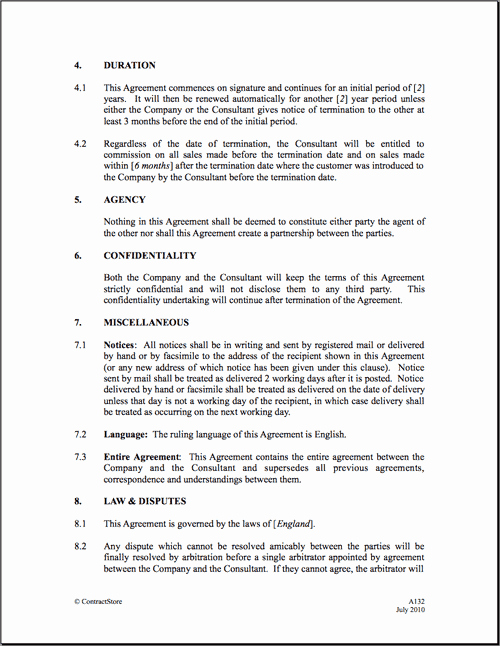 Sales Commission Agreement Template Lovely Mission Agreement Templates