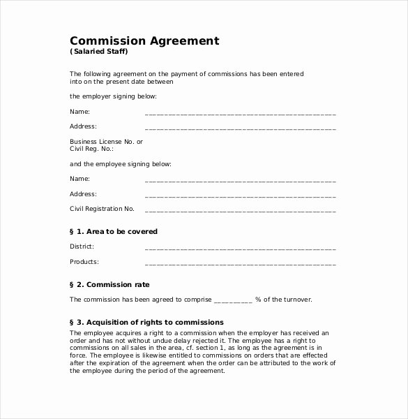Sales Commission Agreement Template New 12 Mission Agreement Templates Word Pdf Apple Pages