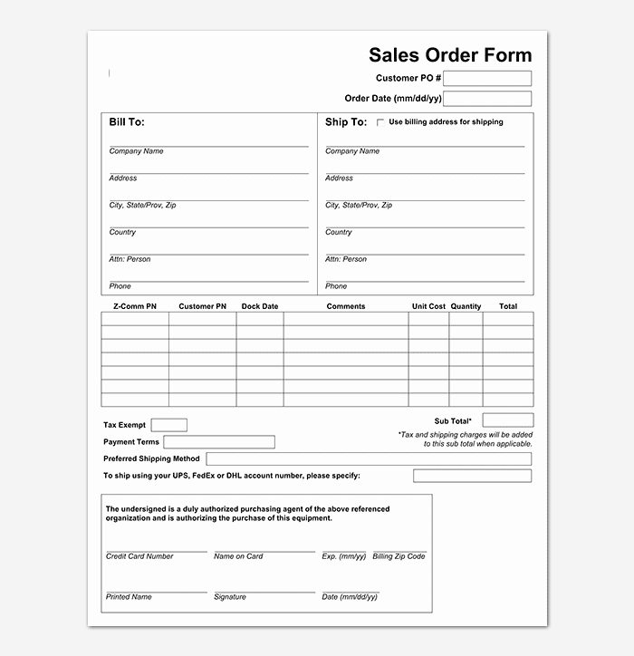 Sales order form Template Luxury Sales order Template 22 formats & Examples Word Excel Pdf
