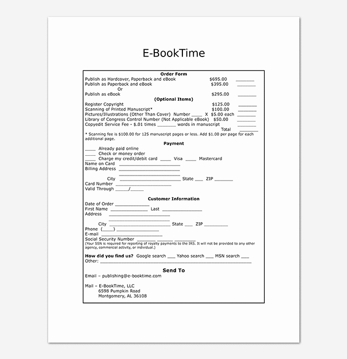 Sales order form Template New Sales order Template 22 formats & Examples Word Excel Pdf