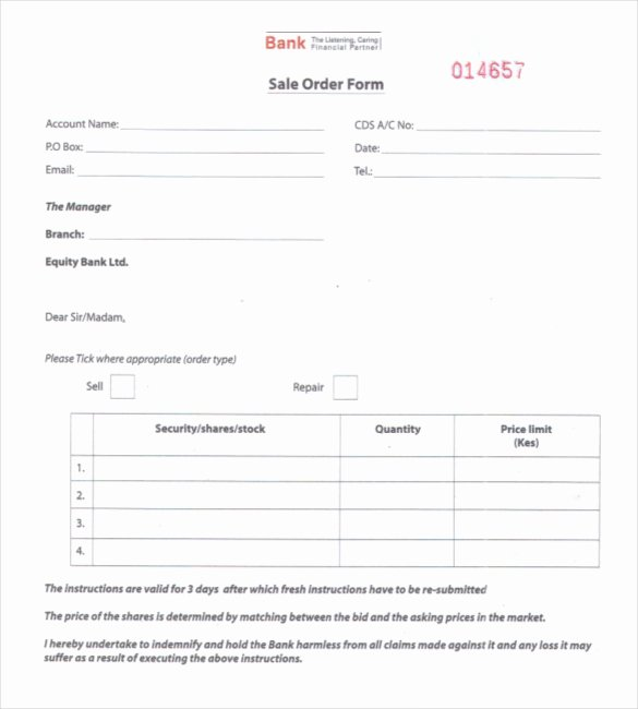 Sales order form Templates Fresh 25 Sales order Templates Ai Word