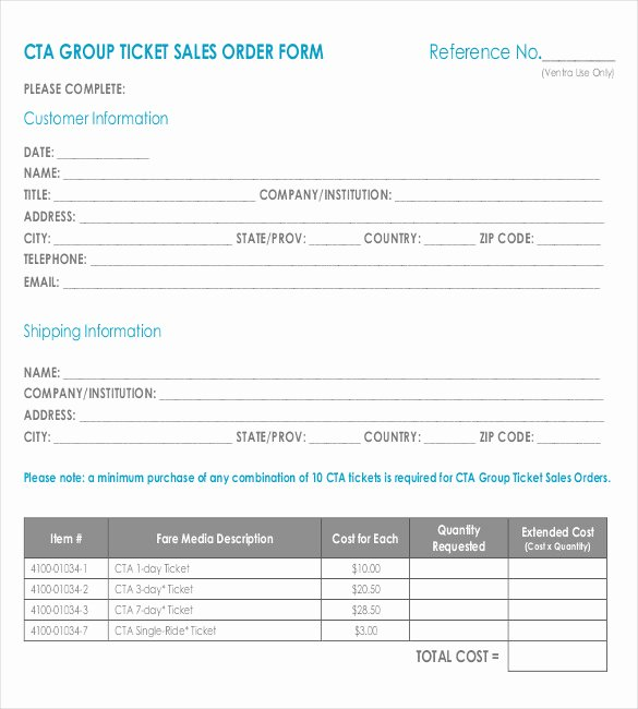 Sales order forms Templates Unique Sales order form