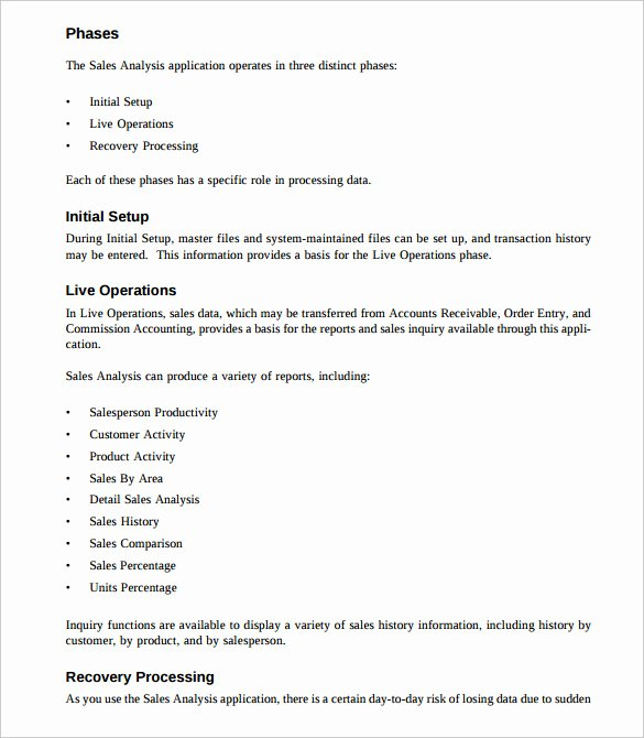 Sales Training Manual Template Awesome Sales Analysis Template 10 Free Word Excel Pdf format Download