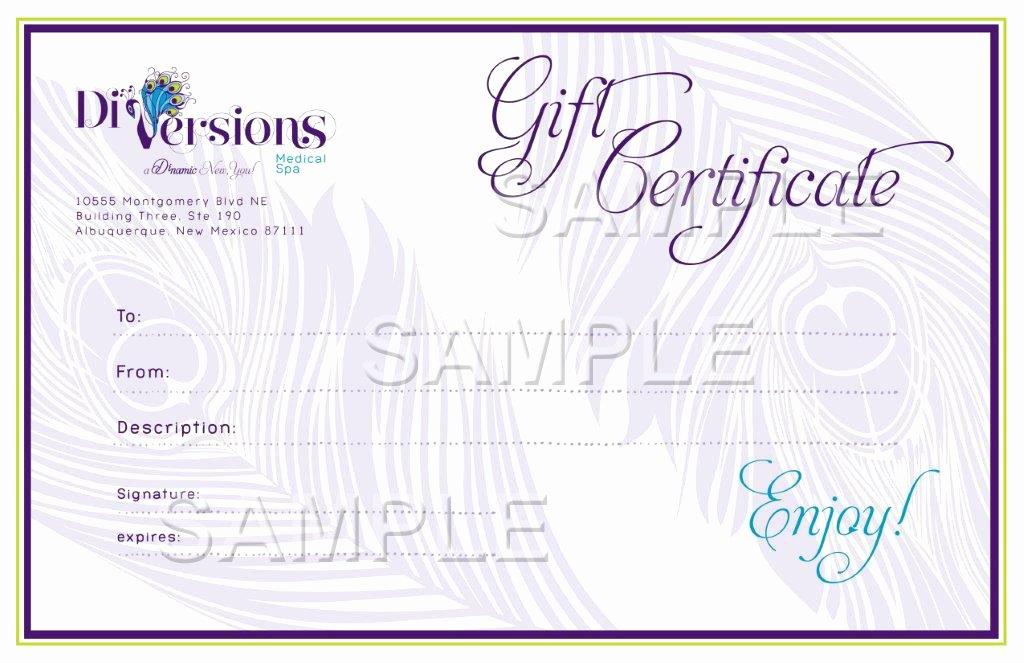 Salon Gift Certificate Template Beautiful Medspa Specials Albuquerque Medical Spa Discounts Santa Fe Nm