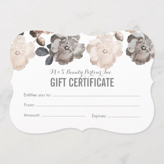 Salon Gift Certificate Template Beautiful Vintage Roses Salon Gift Certificate Template