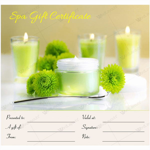 Salon Gift Certificate Template Unique 50 Spa Gift Certificate Designs to Try This Season