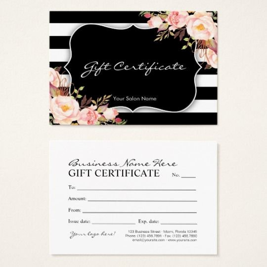 Salon Gift Certificate Templates Awesome Floral Salon Boutique Gift Certificate Template Zazzle Nails Salon