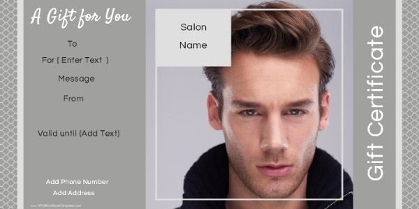 Salon Gift Certificate Templates Beautiful Gift Certificate Templates for A Hair Salon