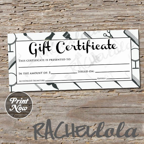 Salon Gift Certificate Templates Beautiful Hair Salon Grey Printable Gift Certificate Template Spring