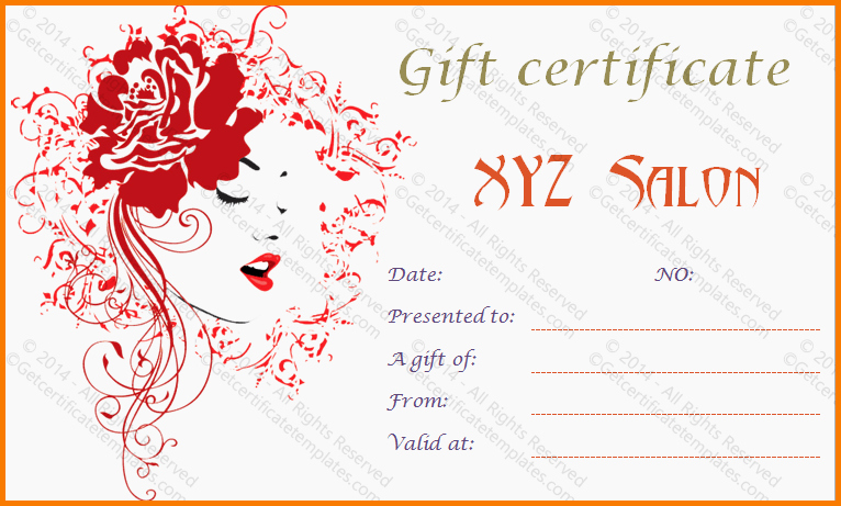 Salon Gift Certificate Templates Best Of Salon T Certificate Template