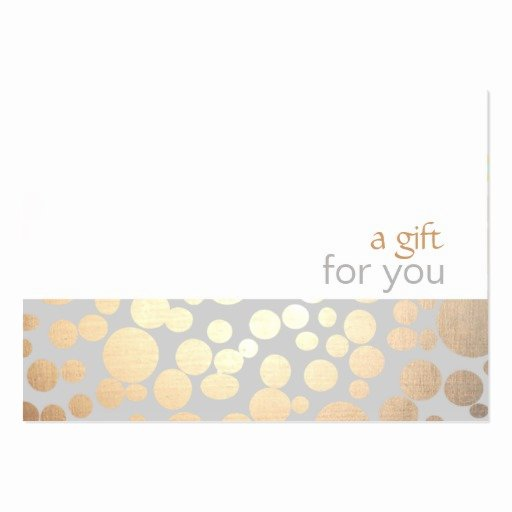 Salon Gift Certificate Templates Lovely Salon and Spa Gold and Gray Gift Certificate Business Cards Pack 100