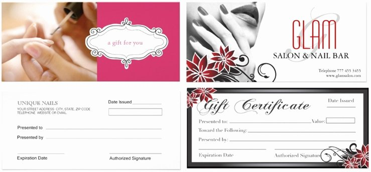 Salon Gift Certificate Templates Luxury Nail Salon Gift Certificate Good Nail Gift Certificate Template Free Heanordirectfo Mo