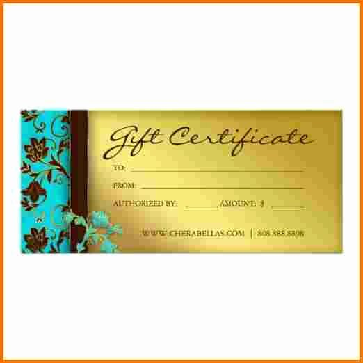 Salon Gift Certificate Templates Luxury Salon T Certificate Template